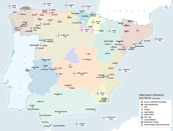 Campos de energía eólica en España