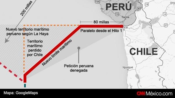 La disputa marítima entre Chile y Perú se remonta a 1838 y contemplaba el