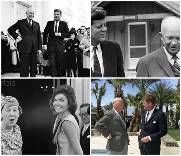 Eisenhower, Kennedy y sus respectivas esposas